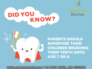 Parents | supervise | children brushing