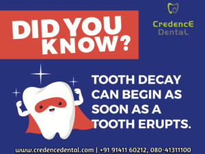 Tooth decay | tooth erupts