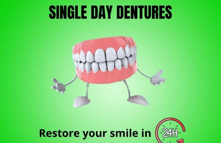 single-day denture