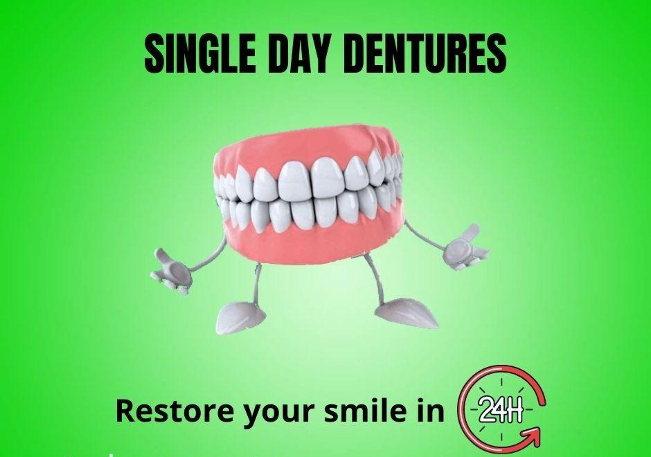 single-day denture