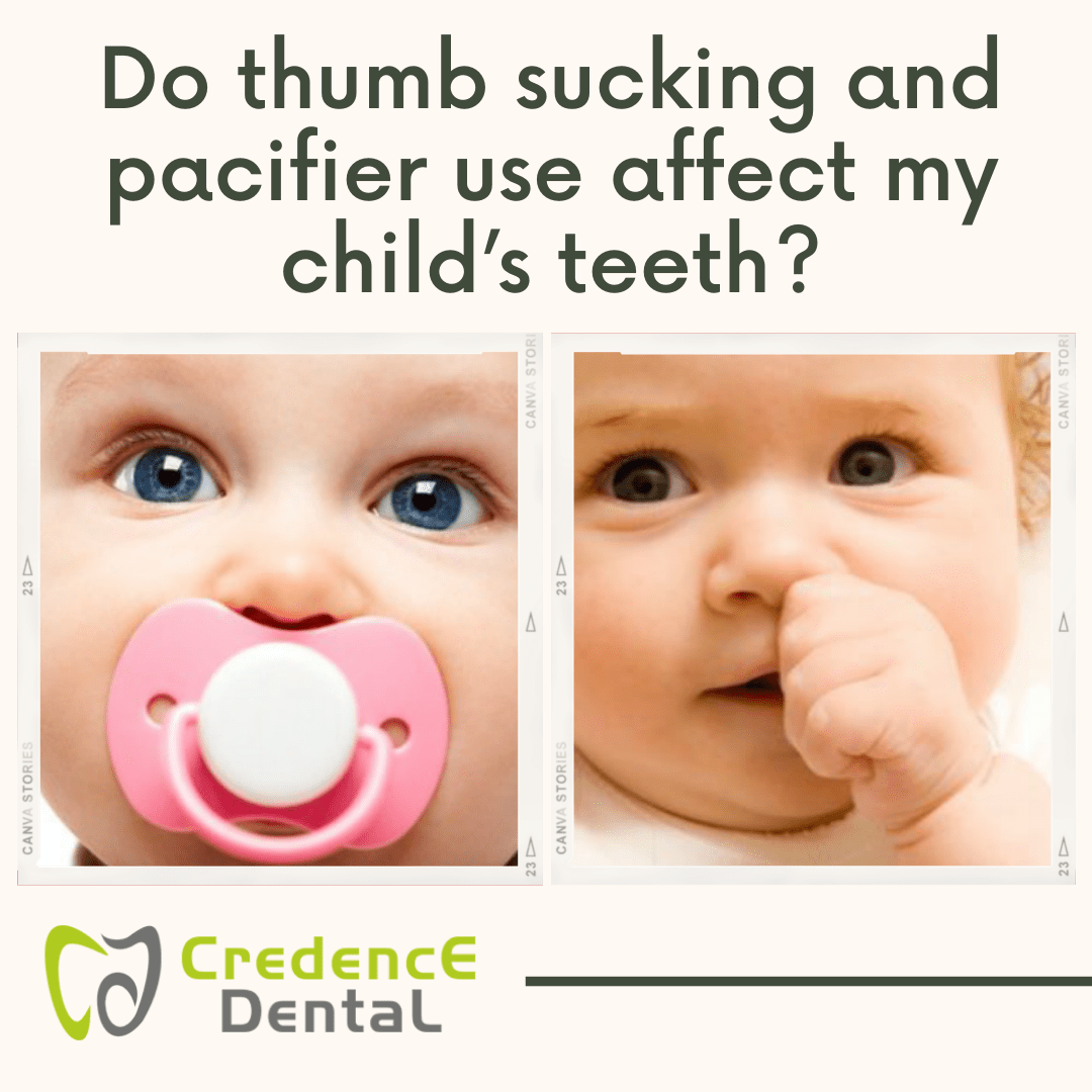 Do thumb sucking and pacifier affect my child's teeth?